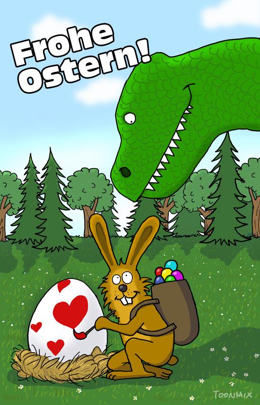 Frohe Ostern wünscht Toonmix