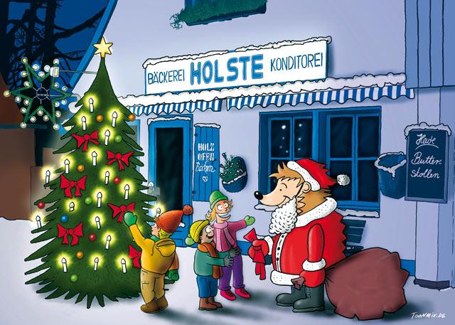 Bäckerei Holste: Weihnachtskarte