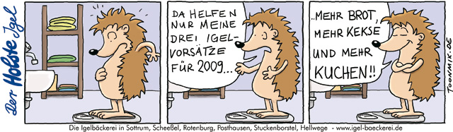 Bäckerei Holste – Igel Cartoon #3
