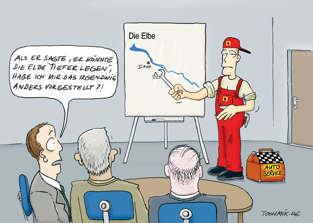 IHK Stade: Elbecartoon